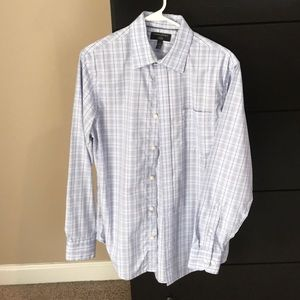 Banana Republic Plaid Non Iron Dress Shirt